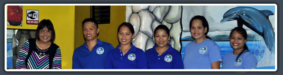 Staff of Ivonne's Beach Apartelle in Moalboal